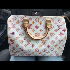 Limited Edition Louis Vuitton Watercolor Speedy 30
